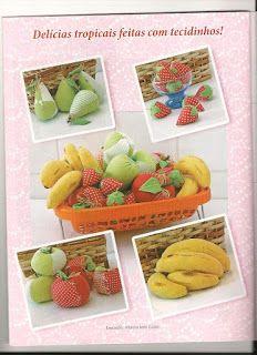 Moldes Para Artesanato em Tecido: Frutas de Tecido com Molde