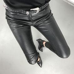 leather pants mango belt silk lace tom