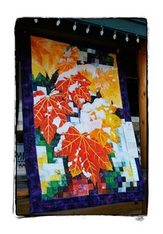 Snowy leaves quilt (displayed at Sisters Outdoor Quilt Show 2012)