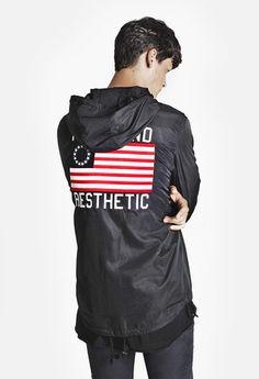 Four Flag Worldwide Hooded Hooded Windbreaker Coach Jacket: Black   http://profoundc.com
