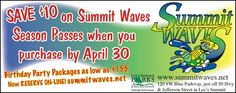 Save $10 on season passes to Summit Waves this summer! Bring the whole family to Summit Waves to cool down the entire summer!  // For more family resources visit ifamilykc.com! :)