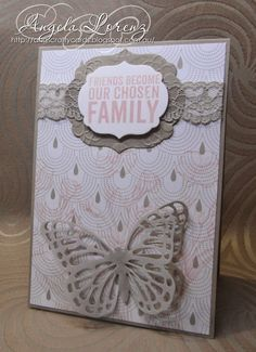 Angela Lorenz: Occasions Catalogue 2015 - Butterflies Thinlits, Something Borrowed DSP, Sahara Sand Lace Trim Ribbon, #stampinup