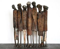 metal sculpture Metal sculpture: Standing Seven I, cm - by metal sculptures junk artist JPJ Metal Sculpture Artists, Sculpture Stand, Abstract Sculpture, Wood Sculpture, Abstract Art, Bronze Sculpture, Support Pour Sculpture, Online Galerie, Metal Art Projects