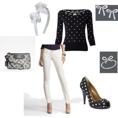 Polka Dot outfit, created by gracie-moonen