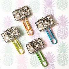 Stars Camera Midori Accessories Traveller Notebook Colorful Filofax Planner Clips 4 Pieces