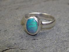 1.35 Carat Black Opal Ring by SirensandAngels on Etsy, $195.00