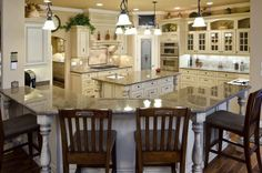 Riveting Large Curved Kitchen Island With Granite Counter Top Mixed Brown Varnished Oak Bar Stools Islands Designs Seating Plus