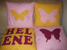 Personalized name applique cushion. Made to order cushion . Kids room decor.