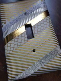 Cubierta del interruptor luz trémula lindo oro por HCMemories