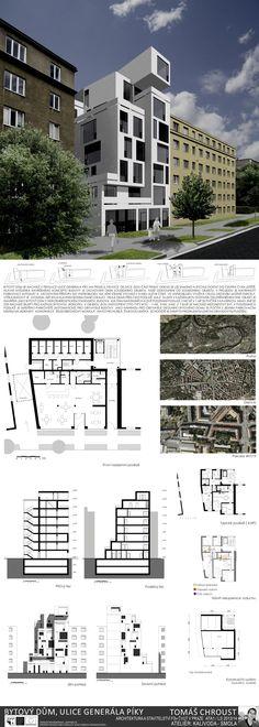 Studentský projekt. LS 2013/2014. FSv ČVUT v Praze. Autocad, Ideas Para, Floor Plans, Buildings, Atelier