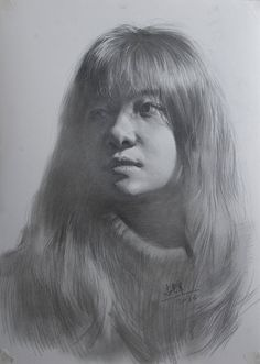 portrait of one student Chen by on DeviantArt Graphite Art, Graphite Drawings, Pencil Art Drawings, Cute Drawings, Drawing Sketches, Pencil Portrait, Portrait Art, Charcoal Portraits, Sketch Painting