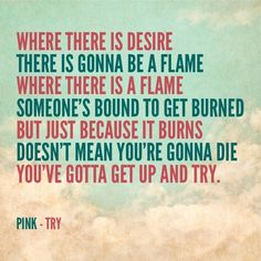 """Try,"" Pink lyrics"