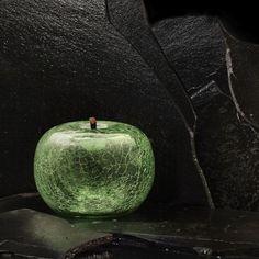 céramique verte pomme objet décoration