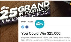 Hgtv extreme watch it win it sweepstakes code word