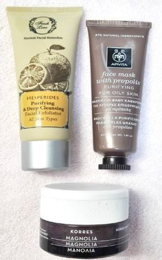 My Weekend beauty routine! My favorite face products from some of the best companies for me! #beauty_product #blogging #korres #apivita #freshline