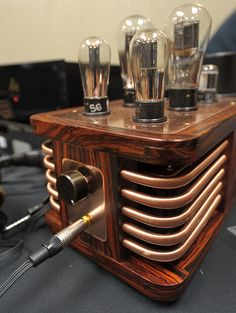 People who enjoy crafts, Steampunk is a dream come true. Unlike other fashion styles or hobbies, the. Radios, Audiophile Headphones, Valve Amplifier, Cool Electronics, Electronics Basics, Audio Design, Hifi Audio, Vacuum Tube, Steampunk Diy