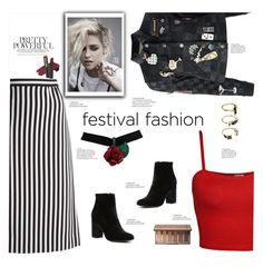 """""""Festival Fashion"""" by soranamikaze ❤ liked on Polyvore featuring Marc Jacobs, WearAll, Witchery, Noir Jewelry, L.A. Girl and Urban Decay"""