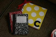 The polka dot notebook is cute
