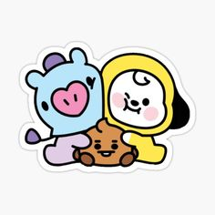 High quality Babies gifts and merchandise. Inspired designs on t-shirts, posters, stickers, home decor, and more by independent artists and designers from around the world. Pop Stickers, Tumblr Stickers, Printable Stickers, Bts Christmas, Kpop Logos, Bts Aesthetic Pictures, Sticker Bomb, Bts Drawings, Line Friends
