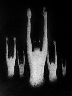 creepy, black and white, and Darkness image Arte Horror, Horror Art, Psychedelic Art, Creepy Art, Scary, Creepy Images, Creepy Pictures, Illustrations, Illustration Art