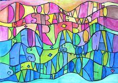 24 trendy name art projects for kids Name Art Projects, Classroom Art Projects, School Art Projects, Art Classroom, Art Sub Plans, Surface Art, 5th Grade Art, Ecole Art, Middle School Art