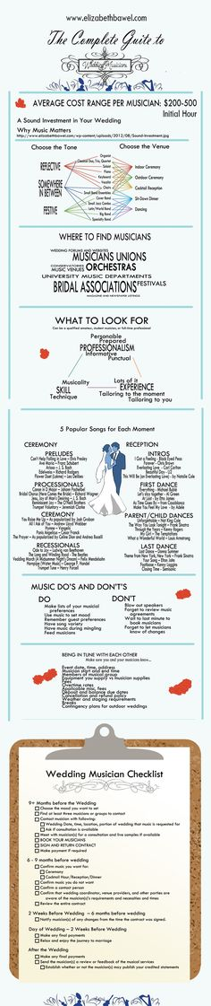 INFOGRAPHIC: The Complete Guide to Wedding Musicians