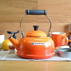 le creuset tea kettle in flame