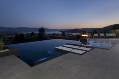 What a beautiful place to watch the sun go down. Gene Brown Genesis 3 Inc. Beautiful Pools, Beautiful Places, Valley Pool, Find Objects, Swimming Pools, Spa, Architecture, Genesis 3, Outdoor Decor