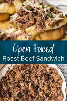 Slow Cook Roast, Cooking Roast Beef, Slow Cooked Beef, Roast Beef Recipes, Dinner Recipes, Picnic Recipes, Picnic Ideas, Dinner Menu, Sandwich Recipes