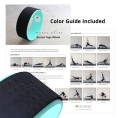 Improve Flexibility, Release Muscle Tension and have fun this High Strength Yoga Wheel Prop, Color Beginner-Advanced 20 Pose Guide Included with purchase!