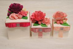 Set+3+Scatole+Portagioie+con+fiori+in+rilievo+di+PaperLoveFantasy+su+DaWanda.com