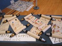 Egyptian scrolls from papyrus.                                                                                                                                                                                 More