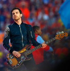 Guy Berryman - Suber Bowl 50 Half Time Show