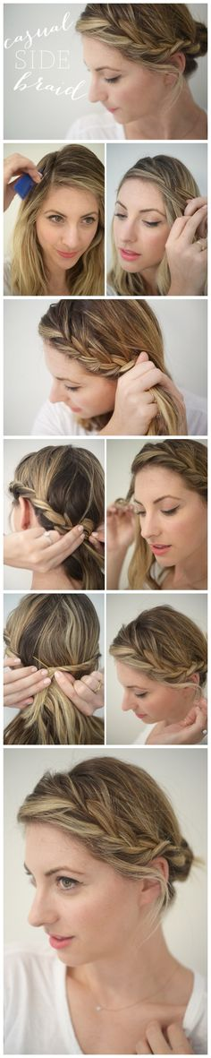 Casual Side Braid #Tutorial