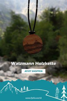 Dein Lieblingsberg als Kette: Der Watzmann als natürliche Holzkette erinnert dich immer an deine Watzmannüberschreitung, den Hüttenabend im Watzmannhaus  oder die Berchtesgadener Alpen. Wähle deine Lieblingsfarbe für das Band.    #holzschmuck #bergschmuck #schmuck #geschenk #alpen #armband    Schmuck, Berge, Bergschmuck, Holzschmuck, Kette, Wanderoutfit #holzschmuck #bergschmuck  #schmuck #geschenk #alpen  #armband    Schmuck,Berge, Bergschmuck, Holzschmuck, Kette, Wanderoutfit Pendant Necklace, Jewelry, Daily Reminder, Mountains, Gift, Jewellery Making, Jewerly, Jewlery, Jewelery