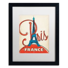 'Paris, France II' by Anderson Design Group Framed Graphic Art