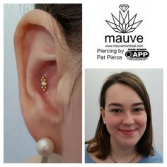 Happy conch piercings for Happy clients! Yellow gold Sabrina by Anatometal! #mauvemontreal #mtl #appmember #safepiercing #montreal #montrealpiercing #livemontreal #piercing #percagemontreal #piercingmontreal #goodpiercing #bestpiercing...
