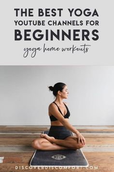 A quick look at the best channels for yoga on YouTube for beginners — after having done a whole bunch of videos. | best yoga youtube channels | yoga beginners learning | yoga beginners video | workouts at home | at home yoga workout | yoga workouts | how to start yoga | at home yoga for beginners | learn yoga at home #yoga #discoverdiscomfort Beginner Yoga Workout, Yoga Workouts, At Home Workouts, Exercises, Step Workout, Yoga Moves, Workout Plans, Easy Workouts, Stretches