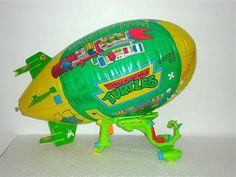 VINTAGE 1989 TMNT PLAYMATES TURTLE BLIMP Teenage Mutant Ninja Turtles VEHICLE Tmnt Turtles, 90s Toys, Cool Art, Awesome Art, Teenage Mutant Ninja Turtles, Nerdy, Action Figures, Childhood, Geek Stuff