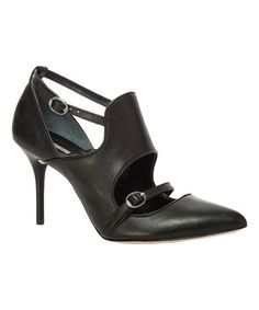 Another great find on #zulily! Black Cove Leather Pump #zulilyfinds