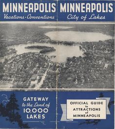 Official Guide to Minneapolis (1930's)A