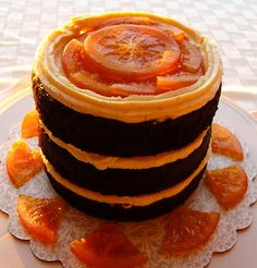 My husband's and my birthdays are so close together that we celebrate them jointly. This year, he requested orange chocolate for his bir. Sweet Recipes, Cake Recipes, Dessert Recipes, Fun Desserts, Delicious Desserts, Ice Cake, Grenade, Chocolate Orange, Chocolate Cake