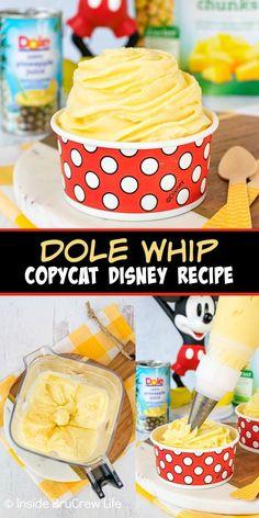Disney Desserts, Frozen Desserts, Frozen Treats, Just Desserts, Disney Food, Disney Recipes, Disney Parks, Refreshing Desserts, Delicious Desserts