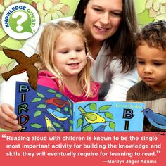 Read aloud with your child (of any age) every day!