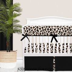 Nothin' wrong with a little sass in a nursery, are we right? This cream, brown, and black cheetah print nursery is fun and trendy. Pair your cheetah baby bedding with a matching cheetah baby blanket + accessories for the full look. Girl Crib Bedding Sets, Girl Cribs, Nursery Bedding, Woodland Baby Bedding, Custom Baby Bedding, Cheetah Nursery, Girl Nursery, Nursery Ideas, Nursery Themes