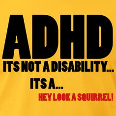 ADHD Is Not a Disability T-shirt   Learning Abled Kids' TShirt and Gift Shop