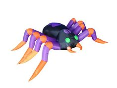 8 Foot Long Halloween Inflatable Black Purple Spider 2015 Indoor Outdoor Yard Decoration *** This is an Amazon Affiliate link. Click on the image for additional details.