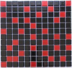 RED AND BLACK TILE PATTERN