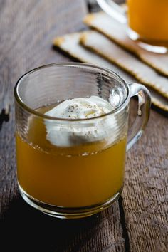 Spiced Apple Cider Picture via My Baking Addiction.   I feel all warm and toasty just looking at it!