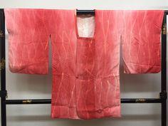 """Michiyuki Kimono coat """"gradation and Tatewaku steam motif  """"  salmon pink…"""